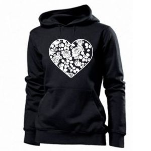 Women's hoodies Roses in the heart