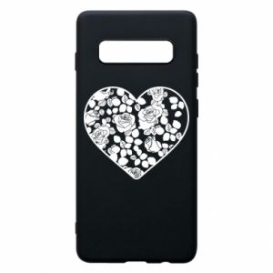 Phone case for Samsung S10+ Roses in the heart
