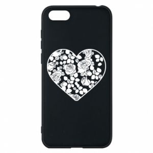 Phone case for Huawei Y5 2018 Roses in the heart - PrintSalon