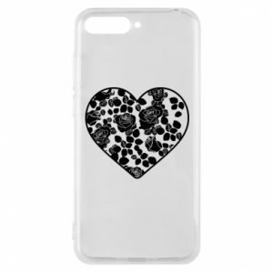 Phone case for Huawei Y6 2018 Roses in the heart - PrintSalon