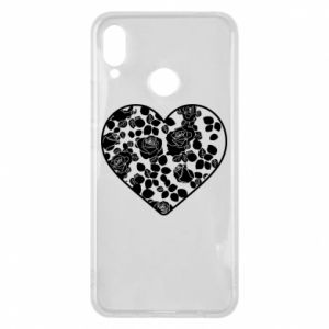 Phone case for Huawei P Smart Plus Roses in the heart - PrintSalon