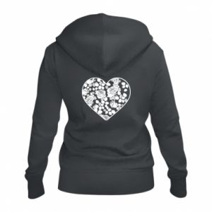 Women's zip up hoodies Roses in the heart