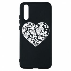 Phone case for Huawei P20 Roses in the heart - PrintSalon