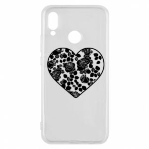 Phone case for Huawei P20 Lite Roses in the heart - PrintSalon