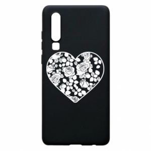Phone case for Huawei P30 Roses in the heart - PrintSalon