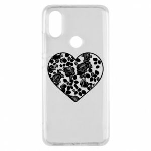 Phone case for Xiaomi Mi A2 Roses in the heart - PrintSalon