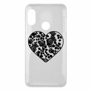 Phone case for Mi A2 Lite Roses in the heart - PrintSalon