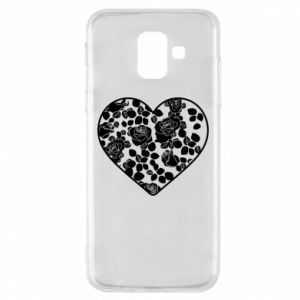 Phone case for Samsung A6 2018 Roses in the heart - PrintSalon
