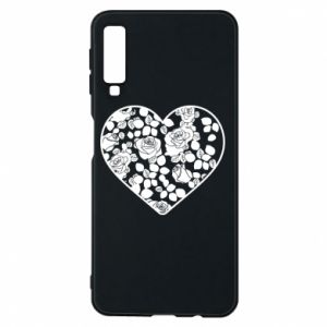 Phone case for Samsung A7 2018 Roses in the heart - PrintSalon
