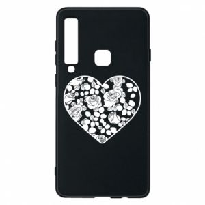 Phone case for Samsung A9 2018 Roses in the heart - PrintSalon