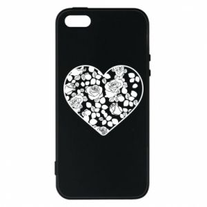 Phone case for iPhone 5/5S/SE Roses in the heart - PrintSalon