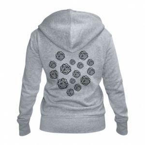 Women's zip up hoodies Roses