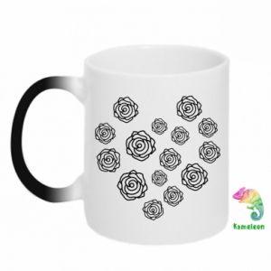 Chameleon mugs Roses