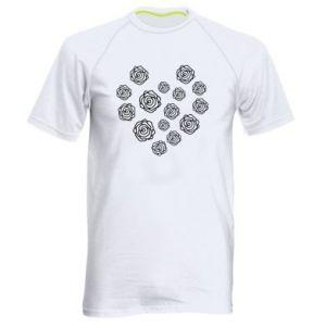 Men's sports t-shirt Roses
