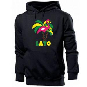 Men's hoodie Pink flamingo