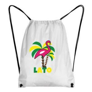 Backpack-bag Pink flamingo