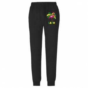Spodnie lekkie męskie Różowe flamingi