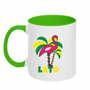 Two-toned mug Pink flamingo