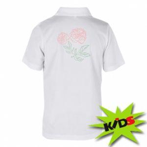 Koszulka polo dziecięca Różowe piwonie