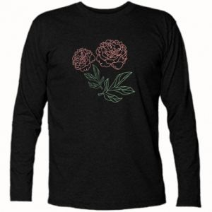 Long Sleeve T-shirt Pink peonies