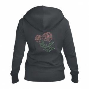 Damska bluza na zamek Różowe piwonie