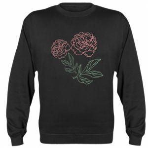 Bluza (raglan) Różowe piwonie