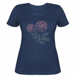 Koszulka damska Różowe piwonie