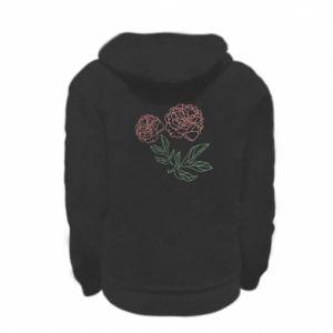Bluza na zamek dziecięca Różowe piwonie