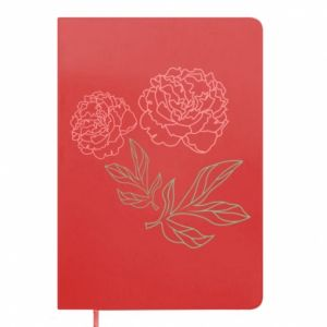 Notes Różowe piwonie