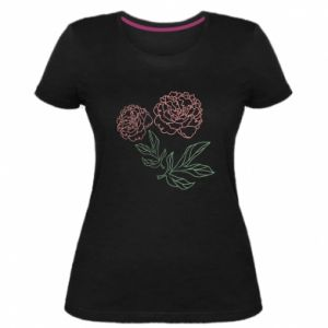 Women's premium t-shirt Pink peonies