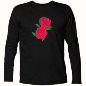 Long Sleeve T-shirt Pink roses