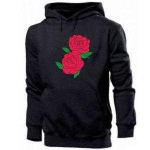 Men's hoodie Pink roses