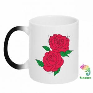 Kubek-kameleon Różowe róże
