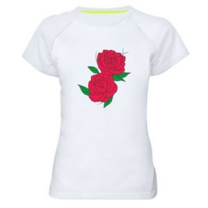 Women's sports t-shirt Pink roses