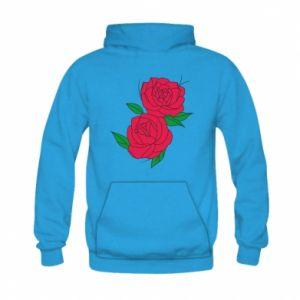 Bluza z kapturem dziecięca Różowe róże