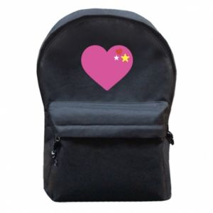 Backpack with front pocket Pink heart