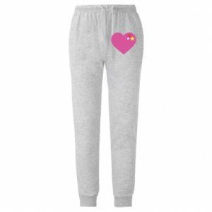 Męskie spodnie lekkie Różowe serce