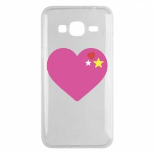 Phone case for Samsung J3 2016 Pink heart