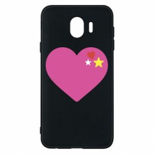 Phone case for Samsung J4 Pink heart