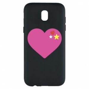 Etui na Samsung J5 2017 Różowe serce