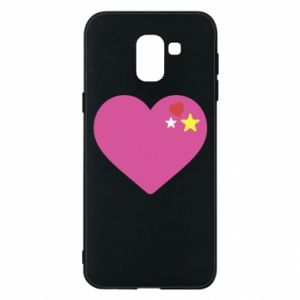 Phone case for Samsung J6 Pink heart
