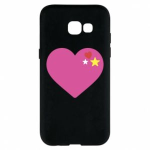 Phone case for Samsung A5 2017 Pink heart