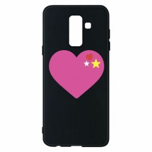 Phone case for Samsung A6+ 2018 Pink heart
