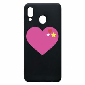 Phone case for Samsung A20 Pink heart