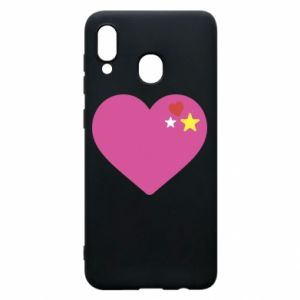 Phone case for Samsung A30 Pink heart