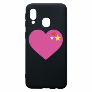 Phone case for Samsung A40 Pink heart