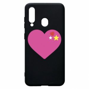 Phone case for Samsung A60 Pink heart