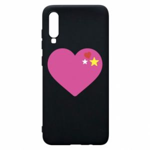 Phone case for Samsung A70 Pink heart
