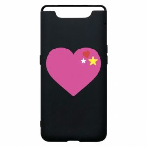Phone case for Samsung A80 Pink heart