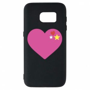 Phone case for Samsung S7 Pink heart